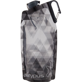 Platypus DuoLock Gourde souple 1000ml, gray prisms